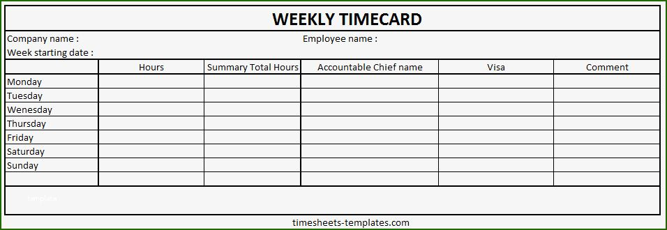 13 Awe Inspiring Weekly Time Card Template That Don T Take A Long Time In 2021 Small Business Plan Template Timetable Template Card Template