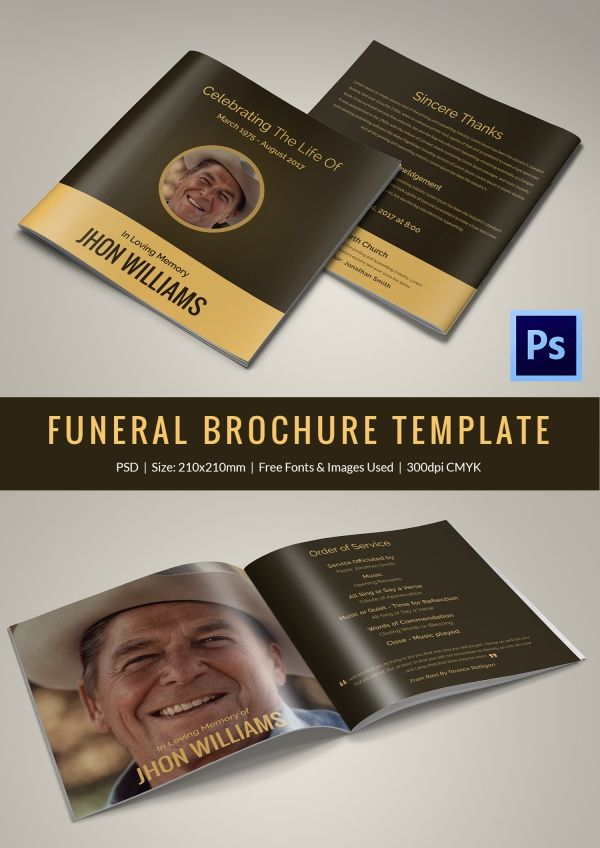 Funeralbrochuretemplate 3 Design And Print Inspiration