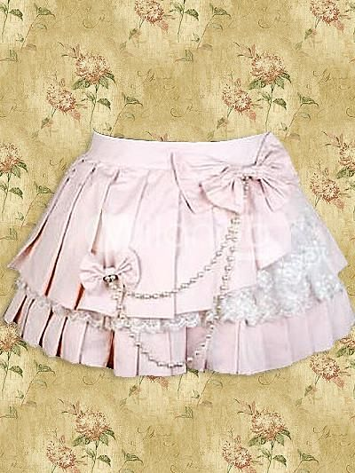 94774d3b3c I found 'Cotton Pink Lace Lolita Pleated Skirt' on Wish, check it out!