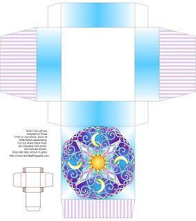 Не ешьте Вставить: Небесные Mandala коробку, карты и окраски страницы