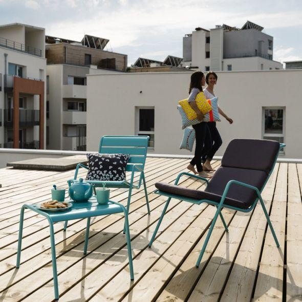 Salon de jardin Fermob Monceau : 1 table basse + 2 fauteuils   Envie ...