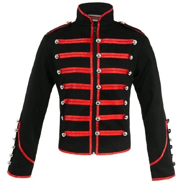 Mens military style jacket red