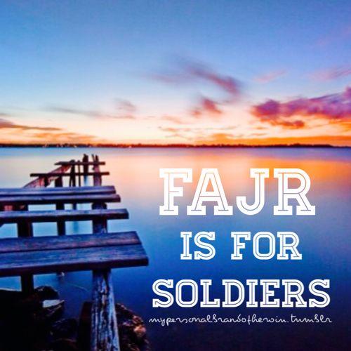 #FajrTime #Fajr #Salah #Allah #Islam #Prayer #Soldier