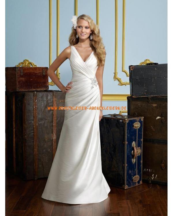 V-ausschnitt Meerjungfrau Elegante Brautkleider 2013 aus Satin mit ...