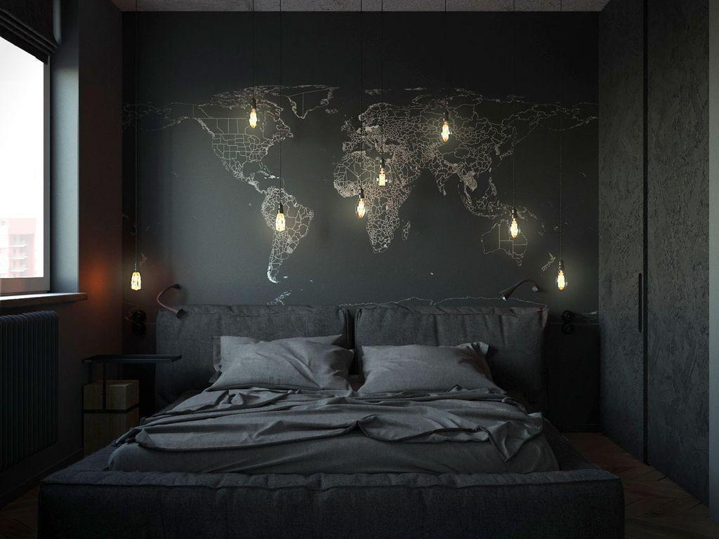 3+ Masculine Men Bedroom Design Ideas - TRENDUHOME  Apartment