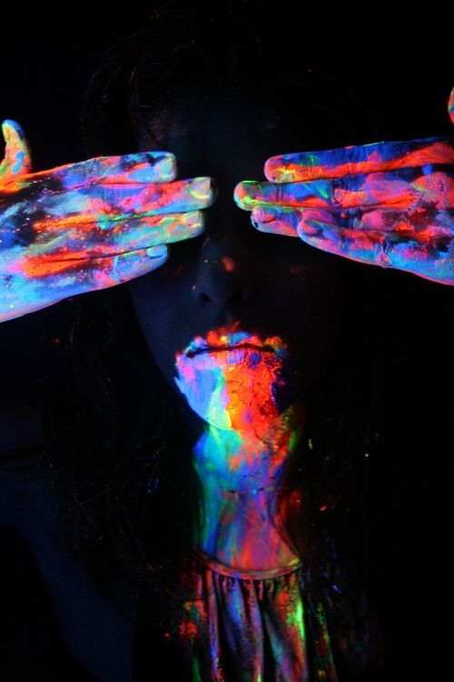 Lets Dress In Paint Neon Paint Photography Cool Pictures Glow In The Dark Neon Painting Neon Art Glow Paint