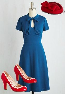 1940s style dress outfit  modcloth                                                                                                                                                                                 More