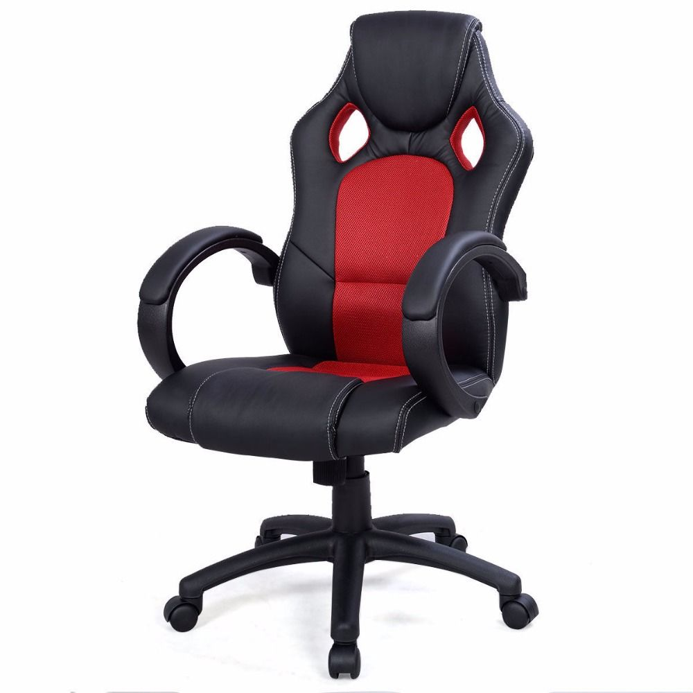 High back race car style bucket seat office desk chair gaming chair