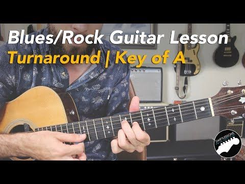 Youtube Blues Rock Turnaround In A Blues Guitar Lessons Guitar Lessons Guitar