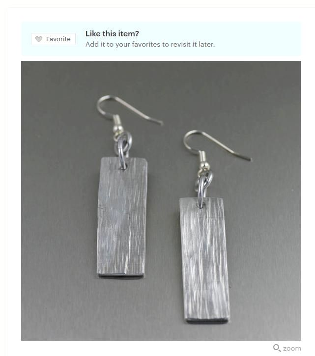Great Wedding Anniversary Gifts: Aluminum Bark Dangle Earrings