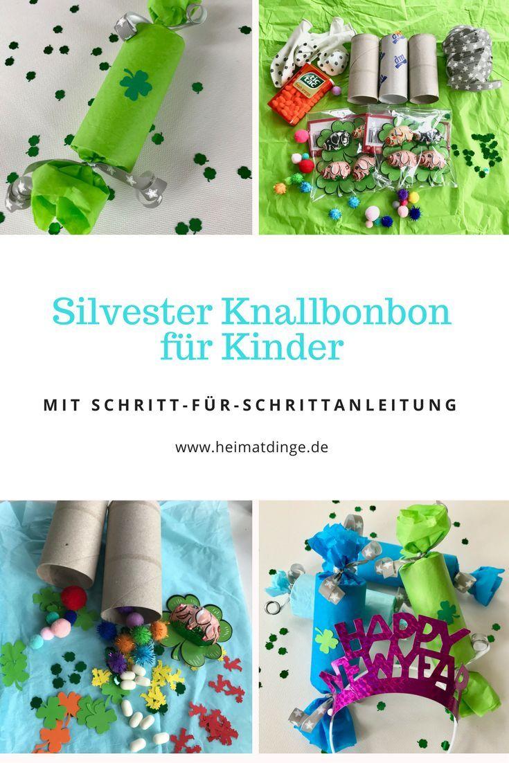 Knallbonbons für Kinder mit Überraschung und Spielidee basteln -