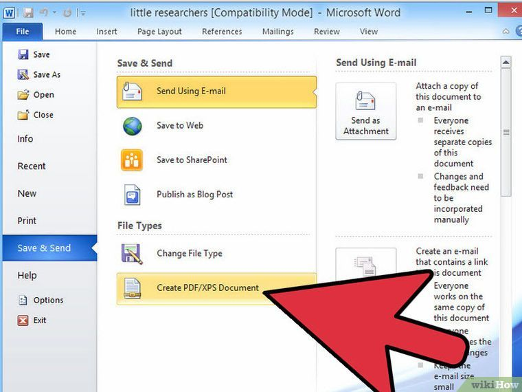 4 ways to convert a microsoft word document to pdf format