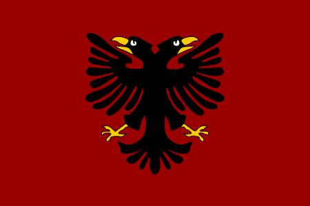 Bandera Of Albania 1920 Bandeira Da Albania Wikipedia A