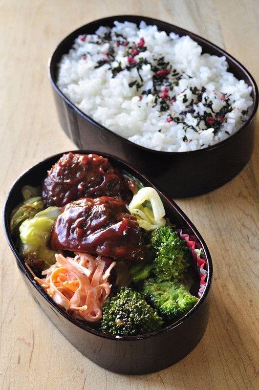 簡単ハンバーグ弁当 家族へ 健康弁当 レシピ 料理 レシピ 作りおきレシピ