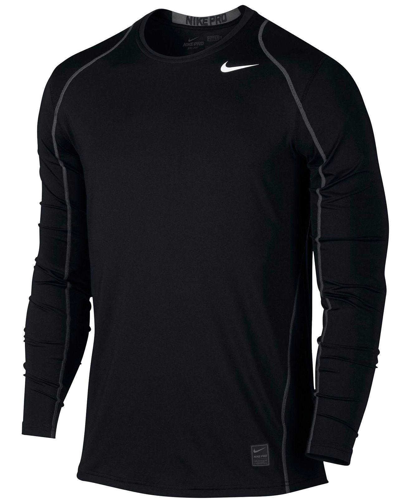 Nike Pro Cool Dri Fit Fitted Long Sleeve Shirt T Shirts Men Macy S White Shirt Men Mens Tshirts Long Sleeve Tshirt Men [ 1616 x 1320 Pixel ]
