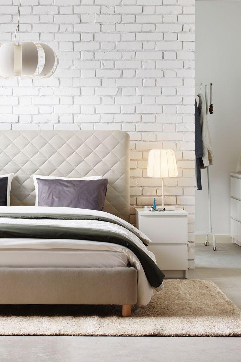 Askvoll Bettgestell Weiss Luroy Ikea Deutschland In 2020 Bettgestell Haus Deko Und Bequemes Bett