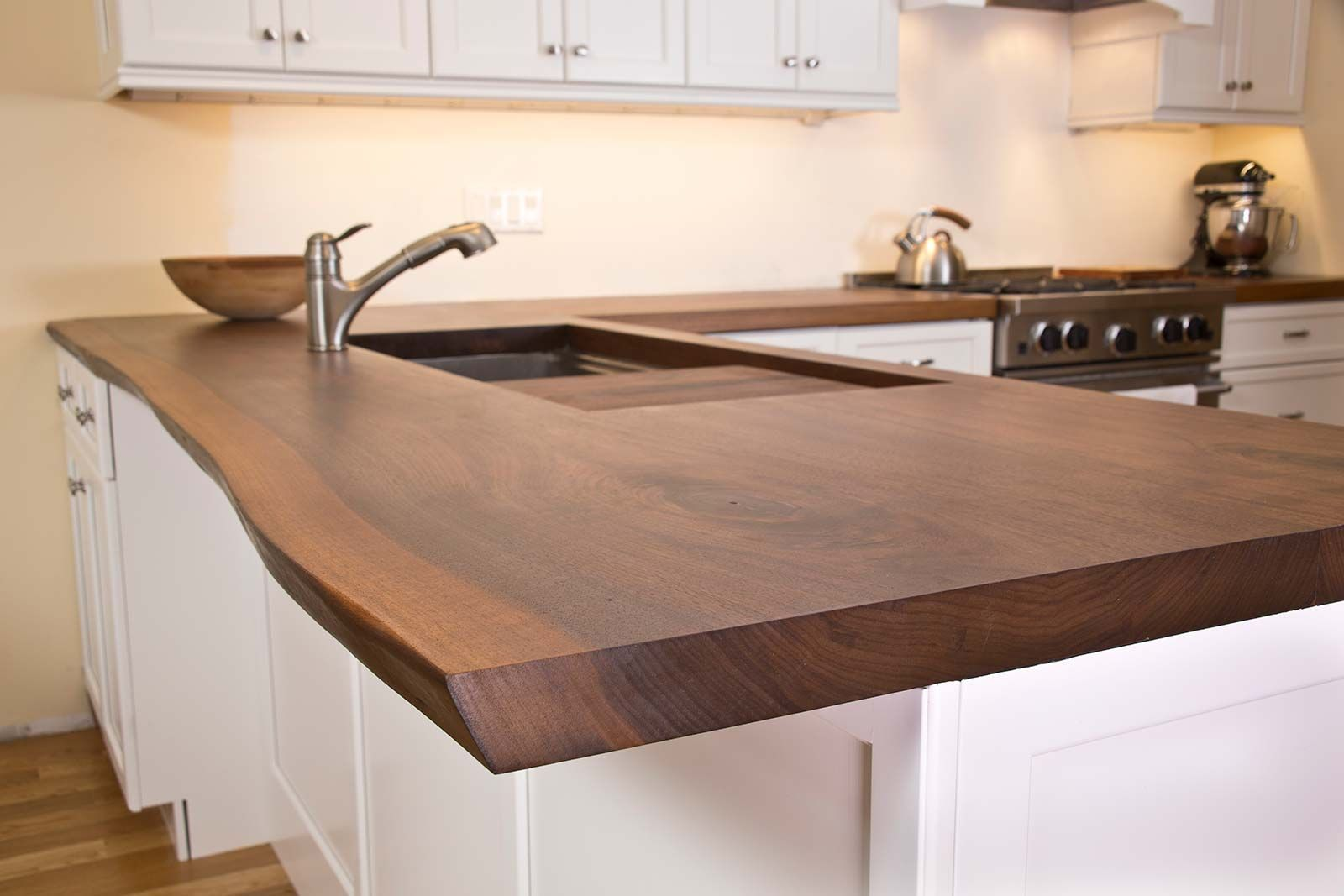 Image Result For Live Edge Waterfall Countertop Kitchen Island