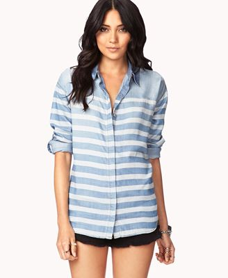 7cc2c9e5736 Life In Progress™ Striped Denim Shirt