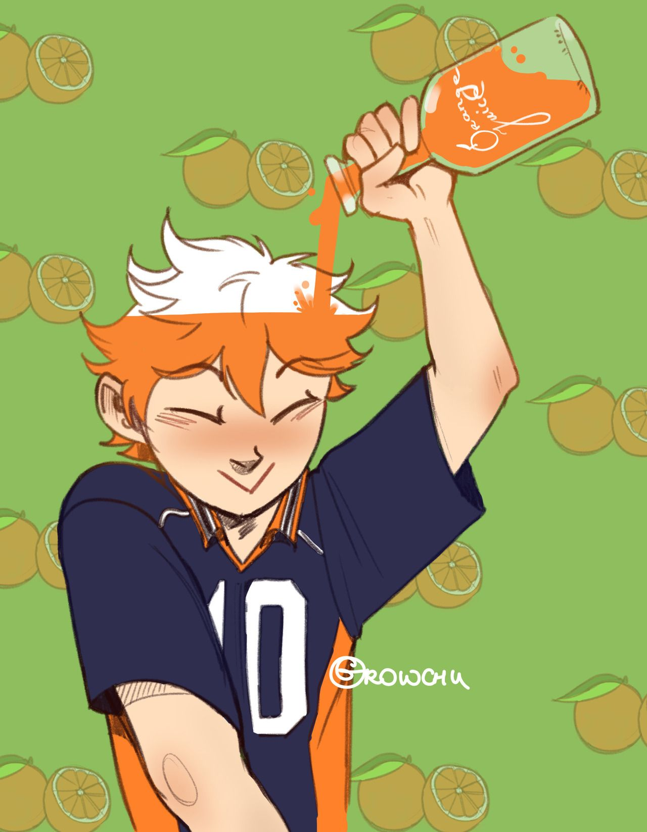 Top Secret Formula For Orange Hair Only For Shrimps Instagram Growchu01 Haikyuu Haikyuu Anime Haikyuu Funny