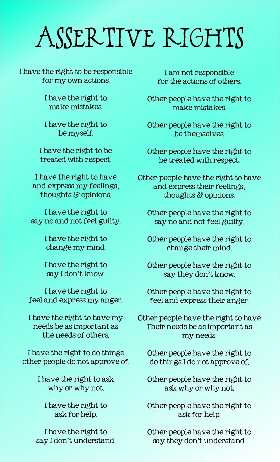 worksheet Assertiveness Worksheets 78 best images about assertiveness on pinterest communication skills curriculum and other people