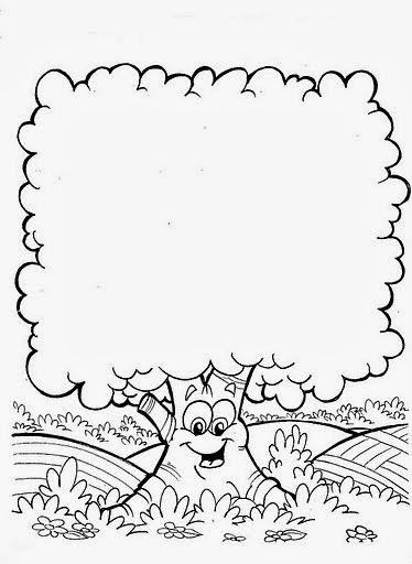 Imagenes Y Fotos Dibujos De Arboles Para Colorear Parte 1 Bordes Y Marcos Dibujo De Arbol Paginas Para Colorear