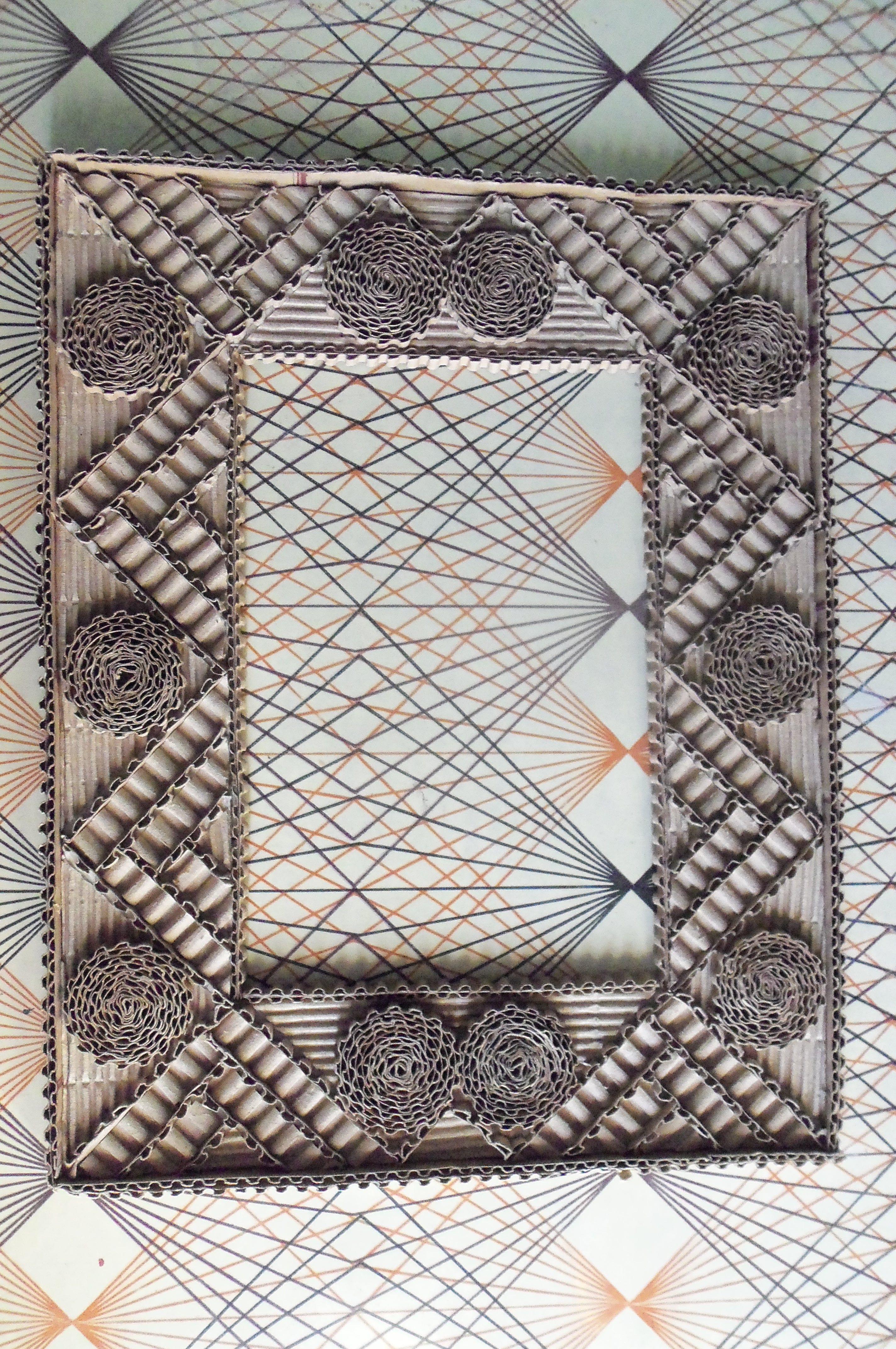 Hand Made Corrugated Cardboard Frame frames