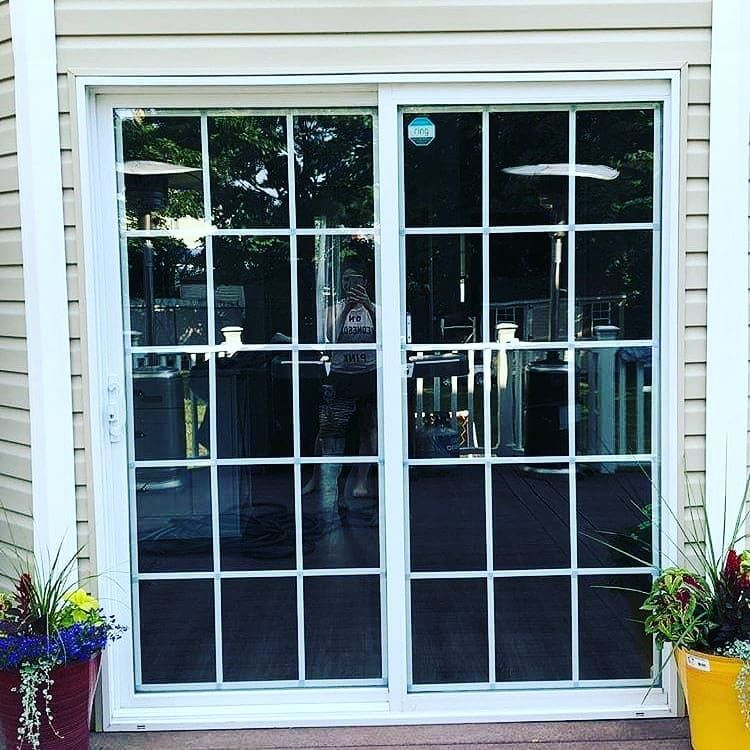 Add The Look Of French Doors To Your Plain Sliding Glass Door Easily With Our Product All You Need French Doors Sliding Glass Doors Patio Front Door Design