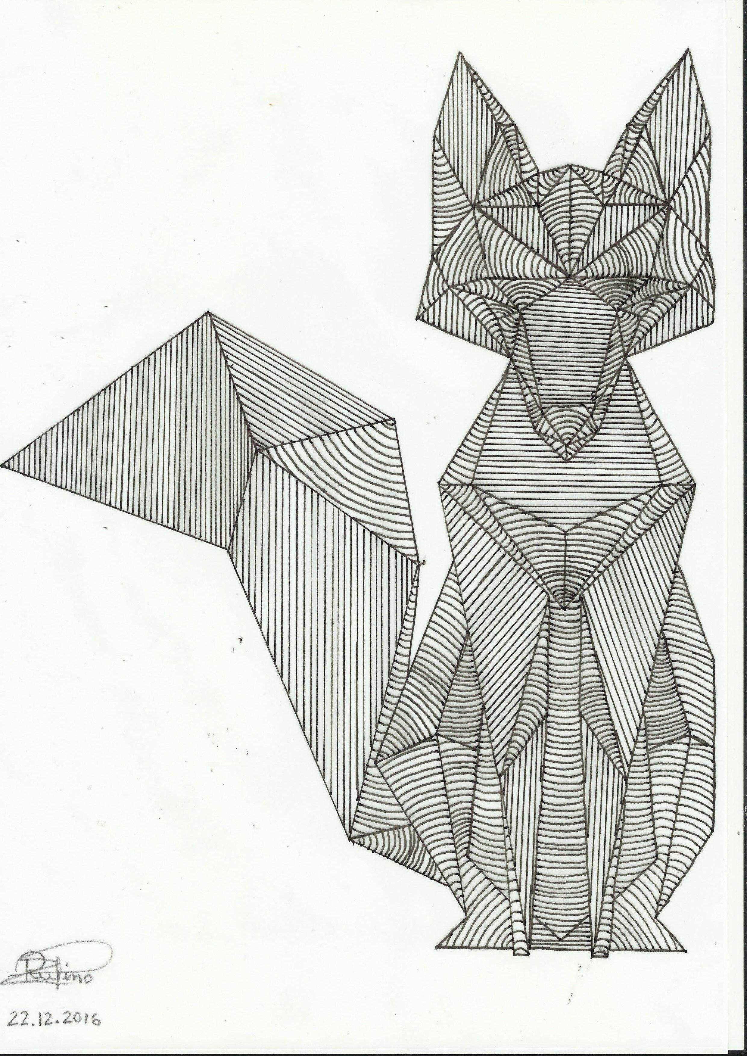 EJERCICIO 3. Dibujo lineal a mano alzada de composición figurativa ...