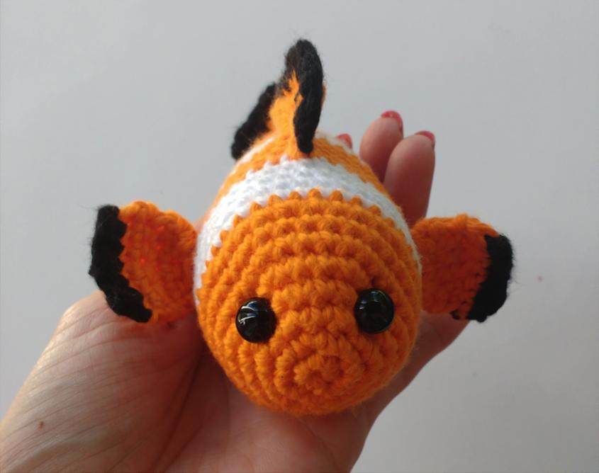 Free Crochet Pattern Clownfish Amigurumi Patron Gratuit Poisson