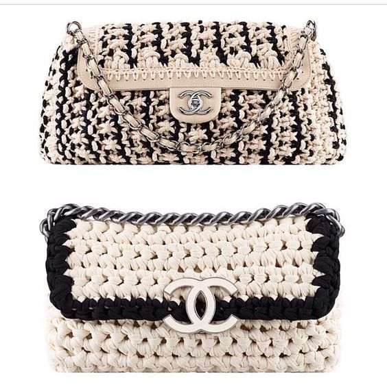 my crochet chanel knockoff purse cynthia luhrs bags pinterest h keln tasche h keln und. Black Bedroom Furniture Sets. Home Design Ideas