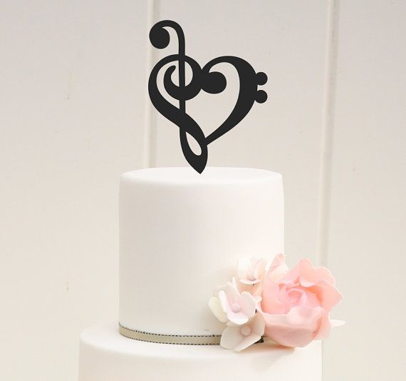 Custom Music Note Heart Wedding Cake Topper Please We Love To Allow 3 4 Weeks For The Production Of Our Items But If You Need