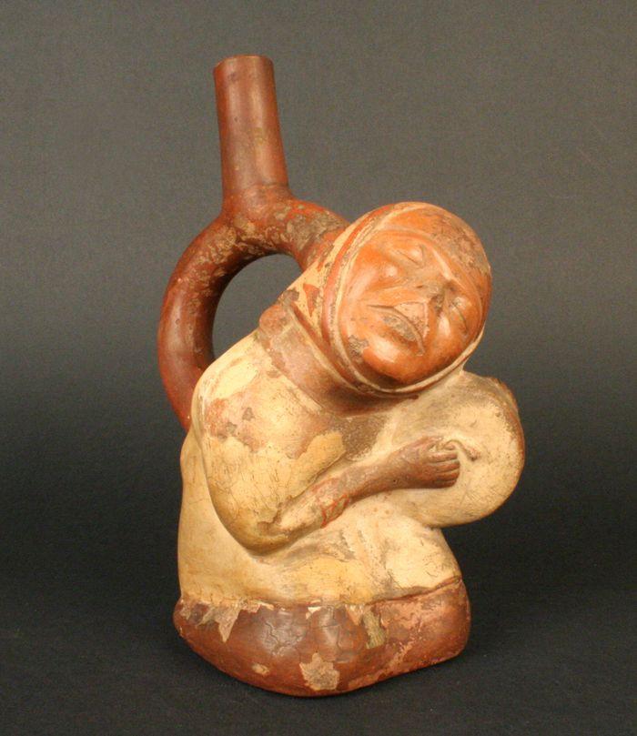 Museo Chileno de Arte Precolombino » Botella asa estribo: tamborera