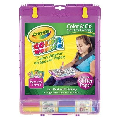 crayola color wonder glitter color and go desk xmas everything
