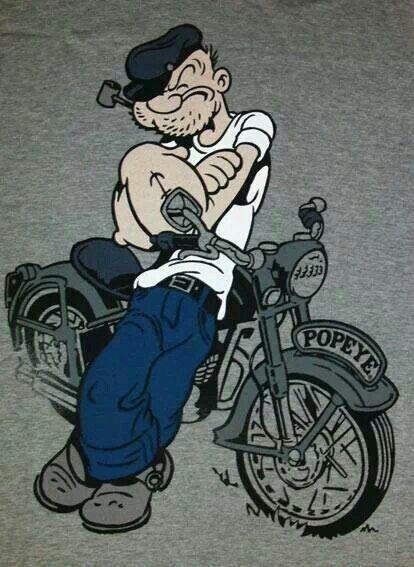 Popeye Biker Style Pinterest Cartoon