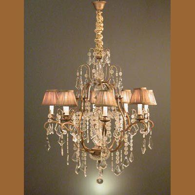 97702200 lampara techo 8lcristal colgant - Lamparas De Techo De Cristal