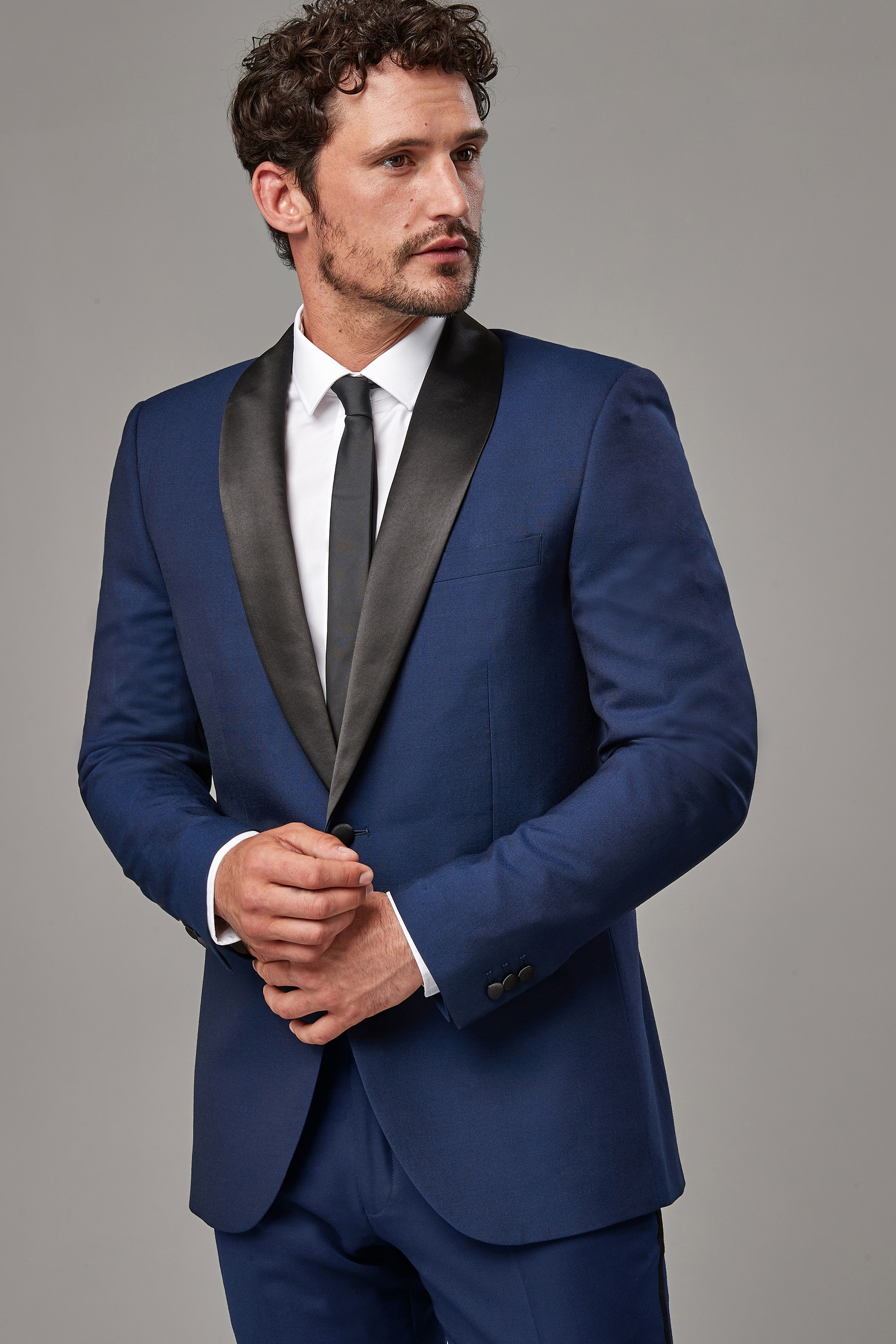 lace up in color brilliancy exquisite craftsmanship Mens Next Navy Signature Tuxedo Tailored Fit Suit: Jacket ...