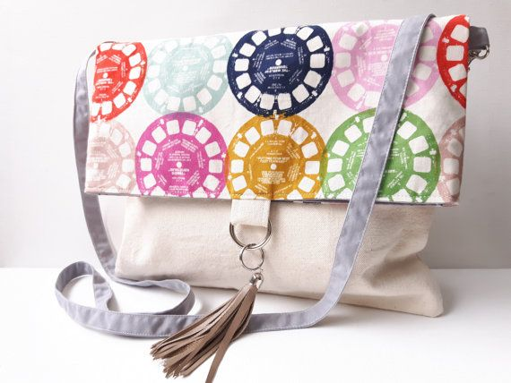 Canvas and View Master Cotton Print Cross-body by Teebags2010