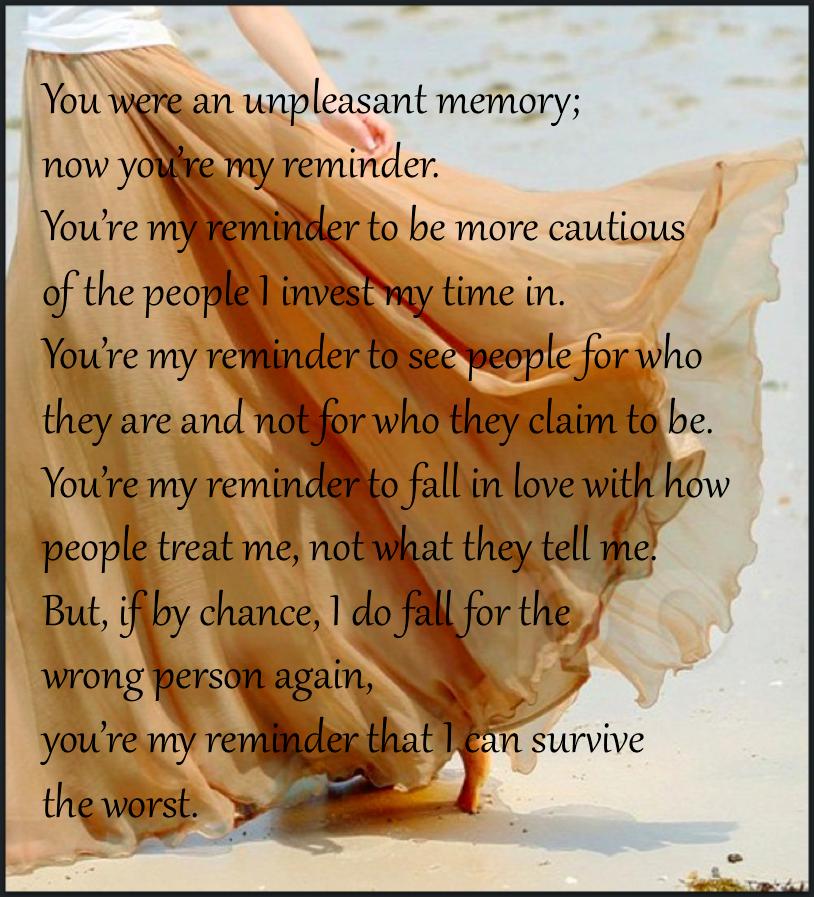 You were an unpleasant ...