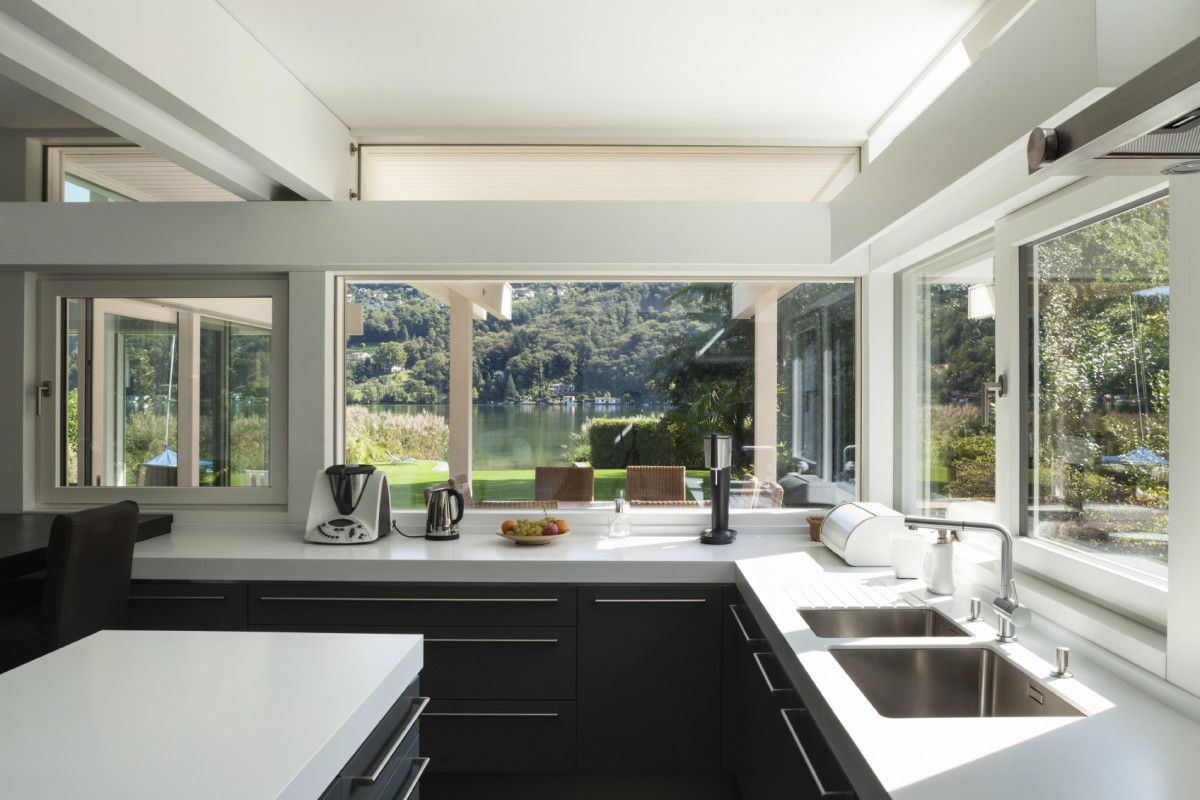 Kitchen window from outside  ravenwindows responds automatically to the temperate outside the