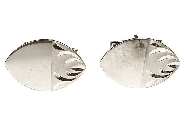 1960s Sterling Oval Cuff Links on OneKingsLane.com