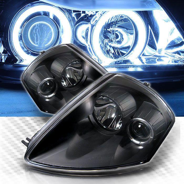 For Ccfl Halo 00 05 Mitsubishi Eclipse Pro Headlights Black Head Lights Pair Mitsubishi Eclipse Mitsubishi Eclipse