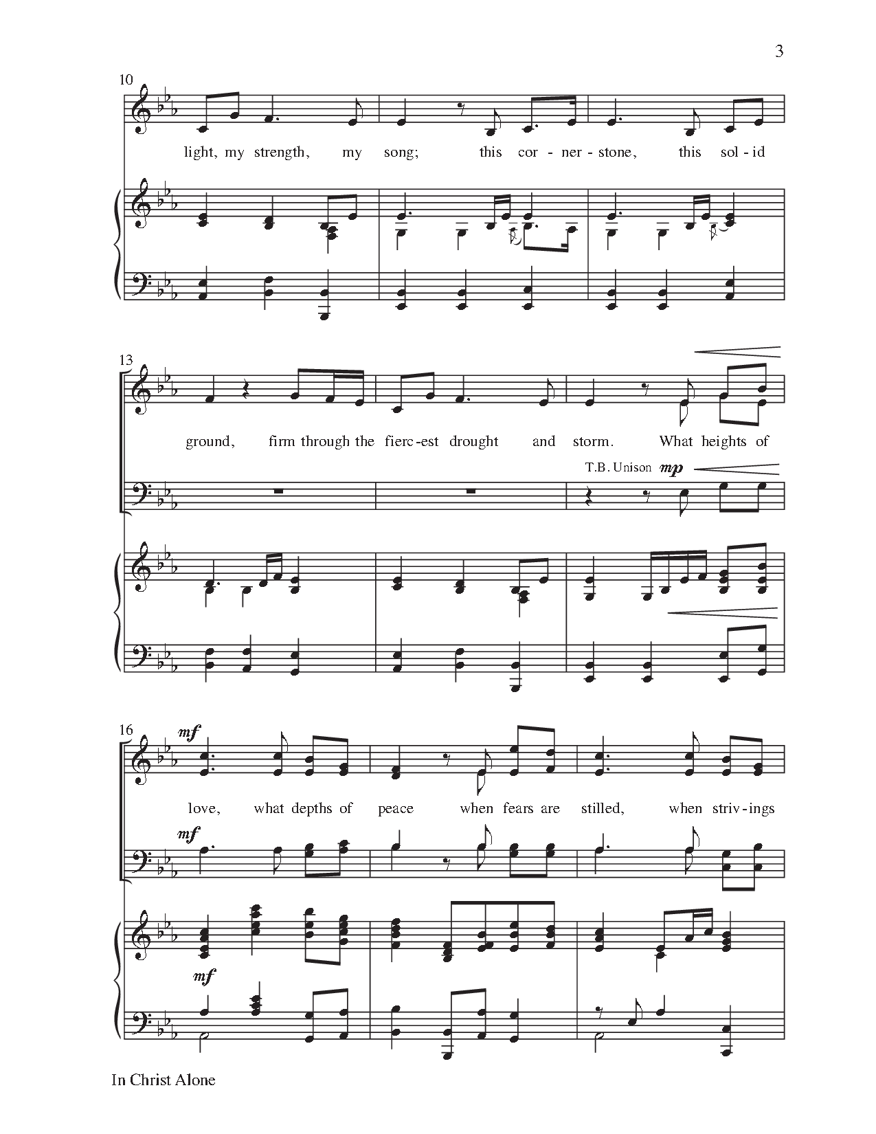 Image result for in christ alone piano sheet music in christ image result for in christ alone piano sheet music hexwebz Images