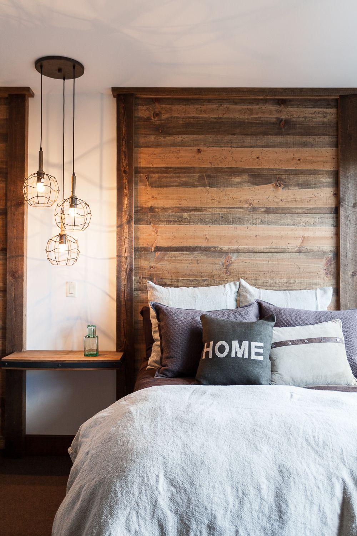Mur De Bois Avec Images Deco Maison Chambre A Coucher