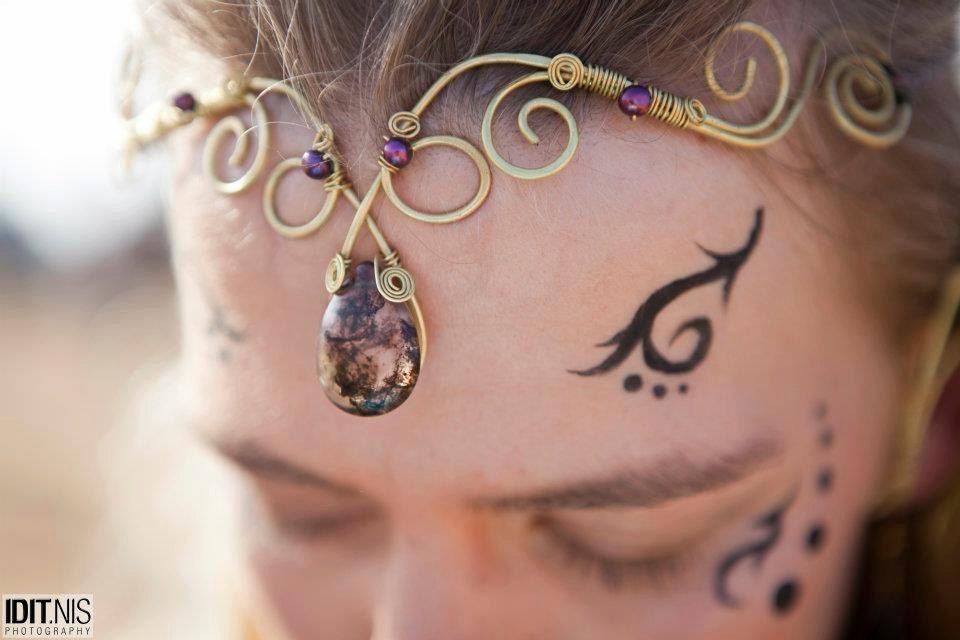Brass Wire Wrapped Tiara,Tribal Headpiece,Fairy Jewelry,. $60.00, via Etsy.