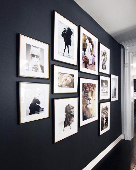 Black Gallery Wall Ideas