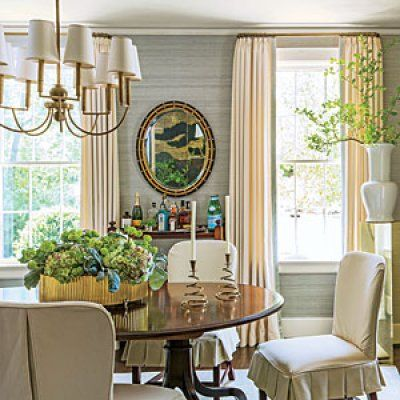 Inviting Dining Room Ideas Stylish Dining Room Grasscloth