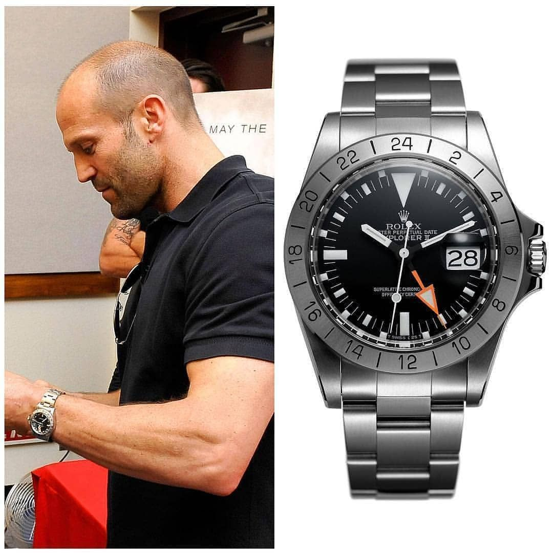 Jason statham with the holy grail of explorers the 1655 rolex explorer ii what do you think for Jason statham rolex explorer