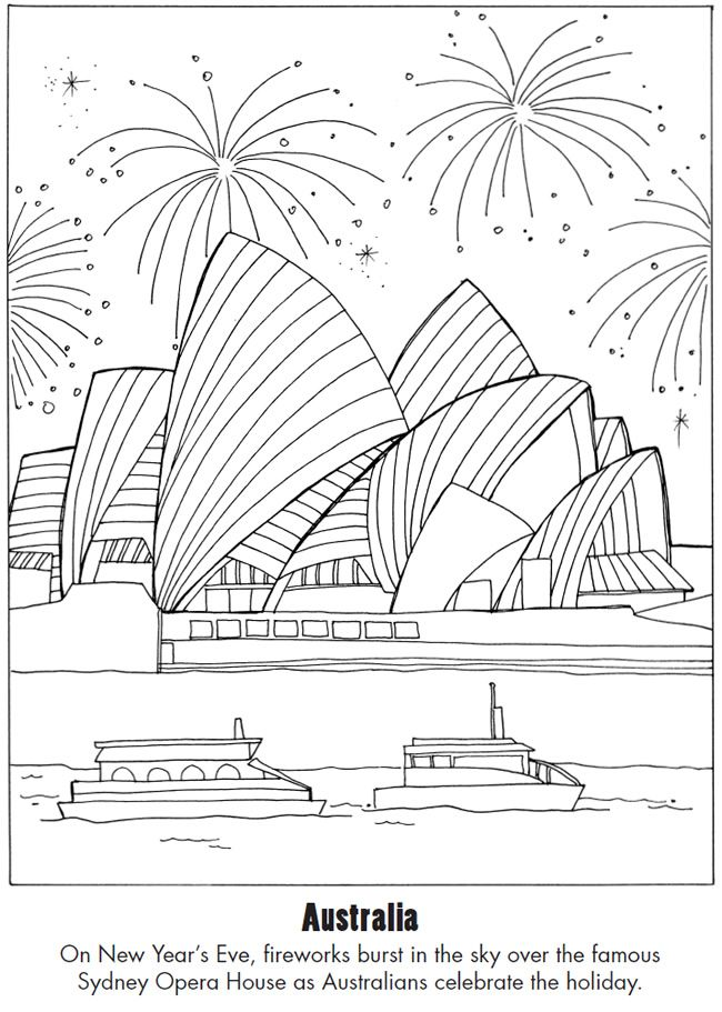 Happy New Year Around the World Dover Publications | C - Australia ...