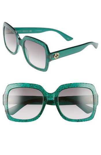 f414c533a5 Free shipping and returns on Gucci 54mm Square Sunglasses at Nordstrom.com.  Glittering frames add unmistakable glamour to Italian-crafted sunglasses ...
