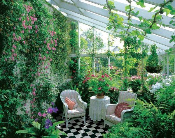 jardin d\'hiver avec beaucoup de plantes | Garden | Jardin d ...